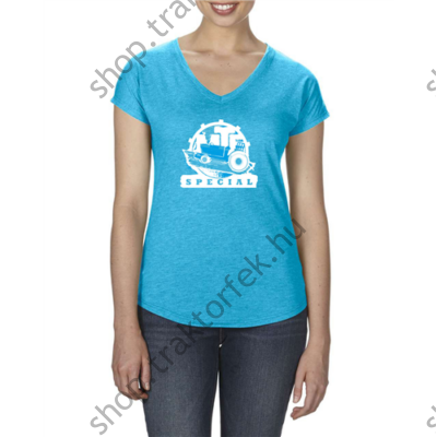 Női póló - kék színben S