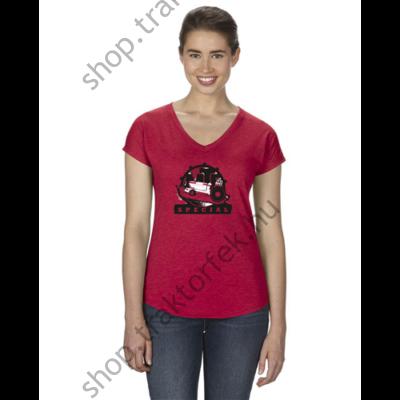 Női póló - piros színben XL
