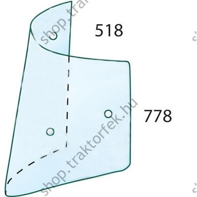 Fülke üveg 3804667M2