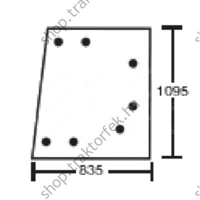 Ablaküveg JCB 3CX 827/20128 utángyártott