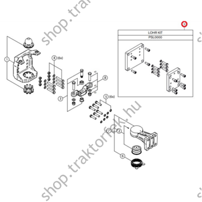 Átszerelő adapter LOHR-ról  GS91100-re