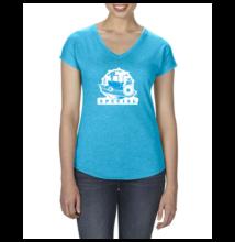 Női póló - kék színben L