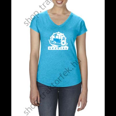Női póló - kék színben M