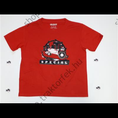 Gyermek póló - piros színben XL