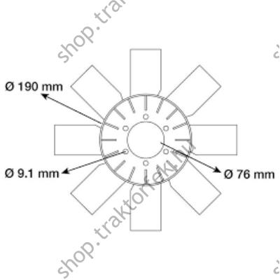 Ventillátor lapát 3144584R1