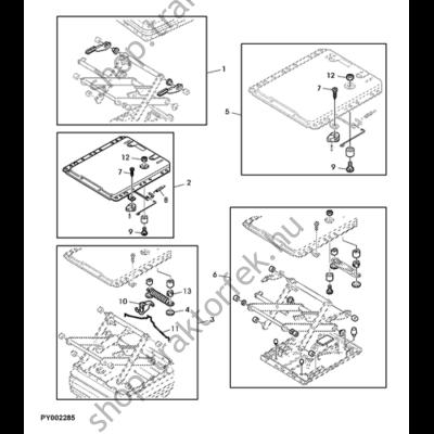 Üléstartó elem L61607