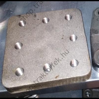 Beheggeszthető tartólap vonószemhez 100x110mm V.Orlandi